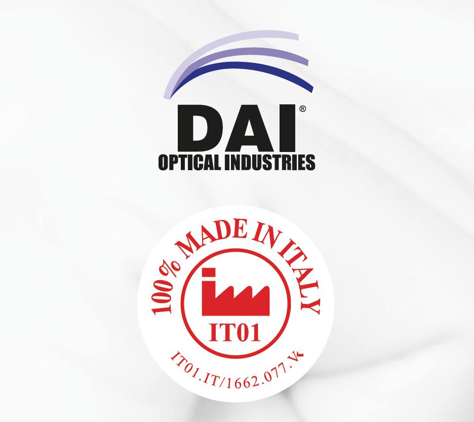 D.A.I. OPTICAL INDUSTRIES LENTI CERTIFICATE  IT01 – 100% QUALITA' ORIGINALE ITALIANA